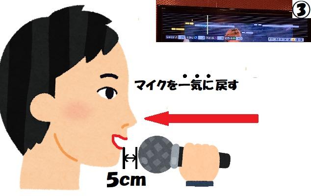 マイクと口の距離が5センチ